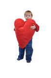 Girl with huge heart Royalty Free Stock Photos