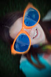 Girl with Huge Sunglasses stock photos