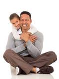 Girl hugging father Stock Photos