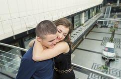 Girl hugging guy Royalty Free Stock Photos