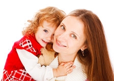 Girl hugging her mom Stock Image