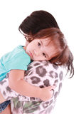 Girl hugging her mom Royalty Free Stock Photography