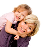 Girl hugging a mother Royalty Free Stock Photography