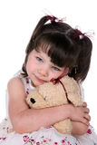 Girl hugging stuffed animal Royalty Free Stock Photography