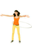 Girl with hula hoop Stock Photography