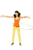 Girl with hula hoop Stock Photography