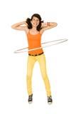 Girl with hula hoop Royalty Free Stock Photos
