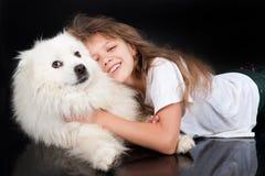 Girl And Husky Stock Photos