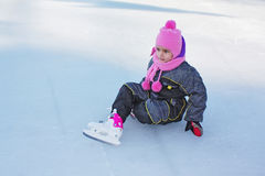 Girl on the ice Royalty Free Stock Photos