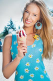Girl with ice cream Royalty Free Stock Photo