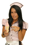 Girl with ice cream Royalty Free Stock Photos