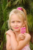 Girl with ice cream Royalty Free Stock Photography