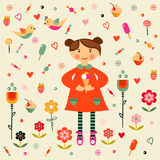 Girl with ice cream. Royalty Free Stock Photo