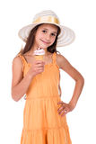 Girl with ice cream Stock Photography