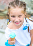 Girl with ice cream Stock Images