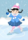 Girl on the ice Royalty Free Stock Photography