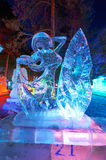 The girl ice-lantern festival Stock Images