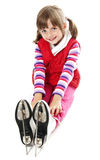 Girl with an ice skates Stock Photos