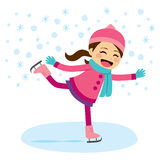 Girl Ice Skating Royalty Free Stock Image
