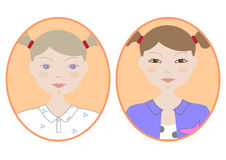 Girl icon image. Vector icon image of a girl Stock Photo
