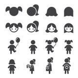 Girl icon Stock Photos
