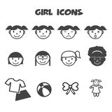 Girl icons Stock Photos