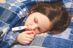 Girl ill or sick Royalty Free Stock Image