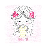 Girl illustration Royalty Free Stock Photos