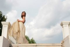 Girl in image of the Cinderella Royalty Free Stock Image