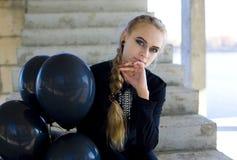 Girl image for Halloween Stock Photography