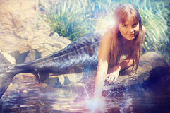 Girl in the image of a mermaid Stock Photography