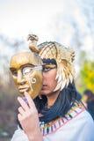 Girl in the image of Nefertiti Stock Images
