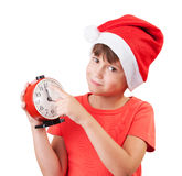 Girl in the image of Santa Claus Royalty Free Stock Image