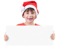 Girl in the image of Santa Claus Royalty Free Stock Photography