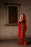 Girl at the image of Turkish sultan's wife Royalty Free Stock Photography