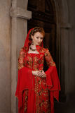 Girl at the image of Turkish sultan's wife Stock Images
