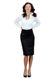 Girl In A Blouse And Skirt Stock Photos