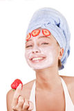 Girl In A Face Mask Stock Image