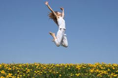 Free Girl In A Happy Jump Stock Photos - 2542173