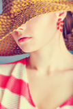 Girl In A Hat Royalty Free Stock Images