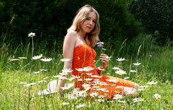 Free Girl In A Meadow Stock Images - 2497004