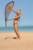 Girl In Bikini On The Beach Royalty Free Stock Images