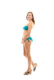 Girl In Bikini On White Background Royalty Free Stock Images
