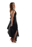 Girl In Black Dress Royalty Free Stock Photos