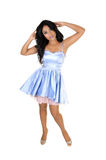 Girl In Blue Dress. Stock Images