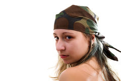 Free Girl In Camouflage Stock Photography - 3285572