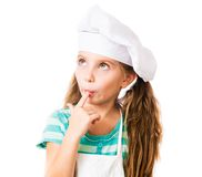 Girl In Chef Hat Royalty Free Stock Photo
