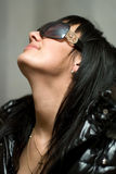 Girl In Dark Glasses Stock Photography
