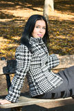Girl In Fall Park Royalty Free Stock Photography