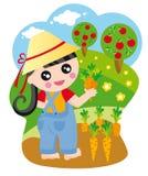 Girl In Garden Stock Photos